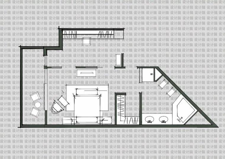 常用的十种卧室平面方案布局_2