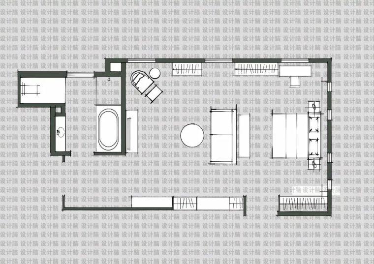 常用的十种卧室平面方案布局_4