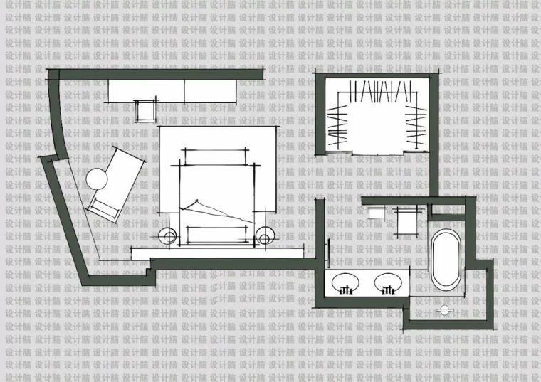 常用的十种卧室平面方案布局_5