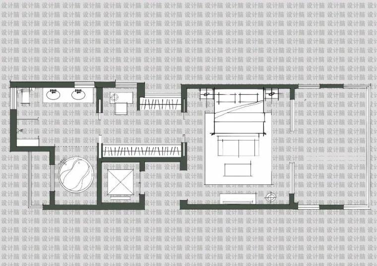 常用的十种卧室平面方案布局_6