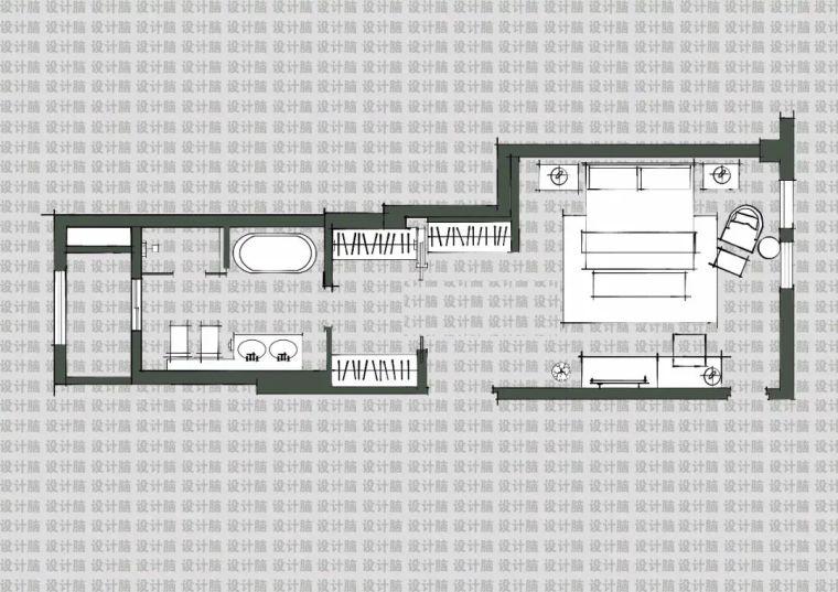 常用的十种卧室平面方案布局_10