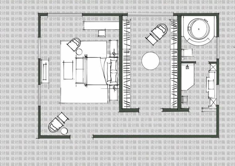 常用的十种卧室平面方案布局_9