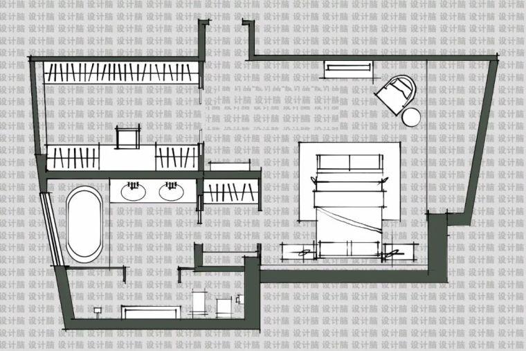 常用的十种卧室平面方案布局_11