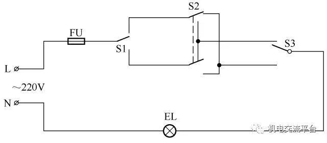 3开关控1灯怎么连线附36种照明控制原理图_6