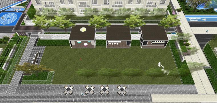 越秀苏州现代轻奢风格景观模型设计_7