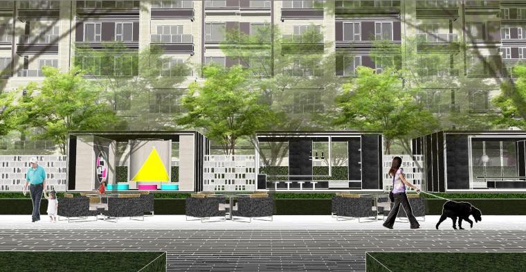 越秀苏州现代轻奢风格景观模型设计_8
