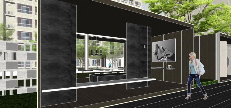 越秀苏州现代轻奢风格景观模型设计_5