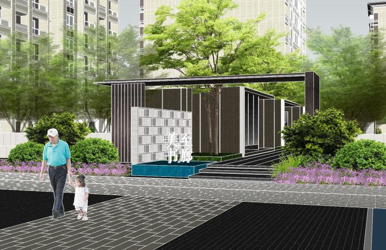 越秀苏州现代轻奢风格景观模型设计_1