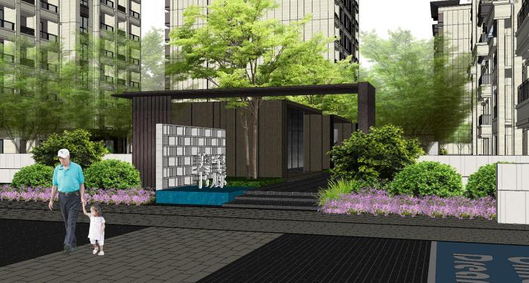 越秀苏州现代轻奢风格景观模型设计_10
