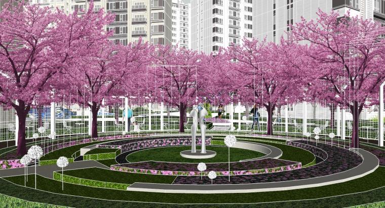 越秀苏州现代轻奢风格景观模型设计_11