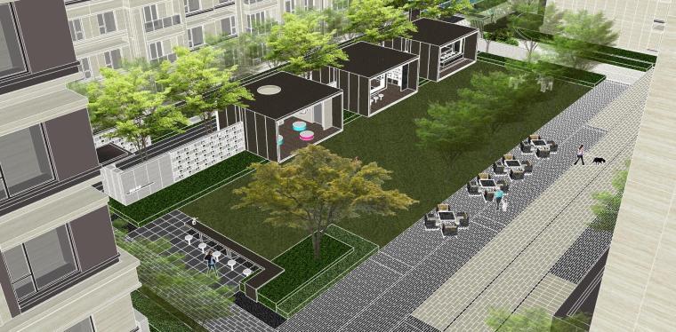 越秀苏州现代轻奢风格景观模型设计_9