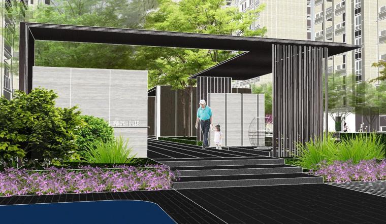 越秀苏州现代轻奢风格景观模型设计_2