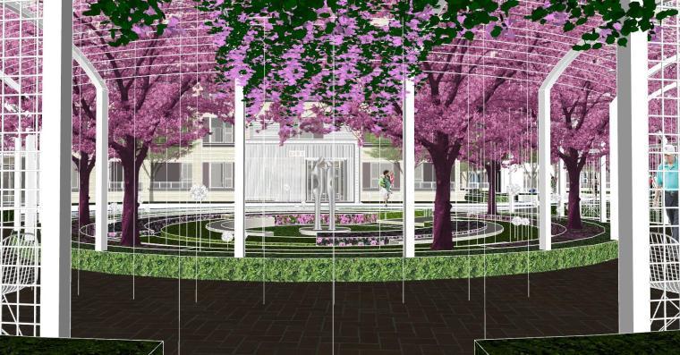 越秀苏州现代轻奢风格景观模型设计_12
