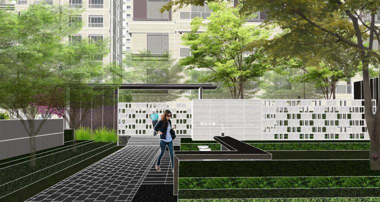 越秀苏州现代轻奢风格景观模型设计_3