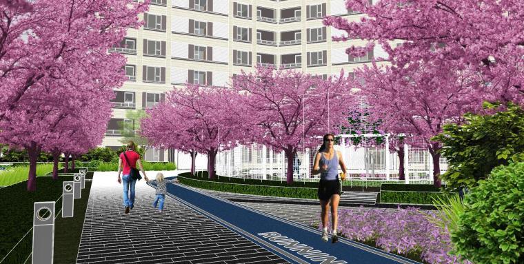 越秀苏州现代轻奢风格景观模型设计_14