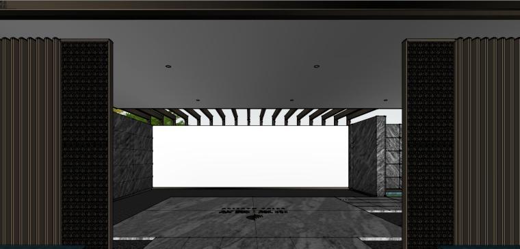 知名企业现代风格樾府展示区景观模型设计_4