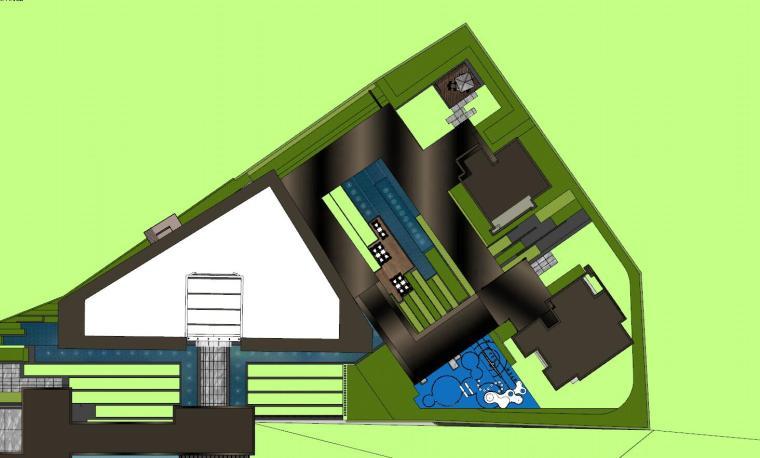 知名企业现代风格樾府展示区景观模型设计_2
