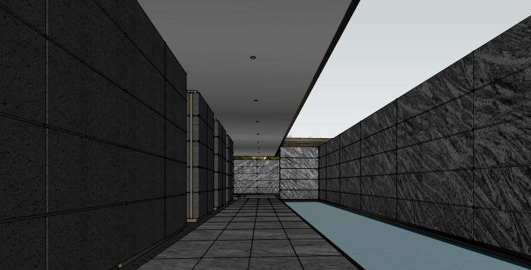 知名企业现代风格樾府展示区景观模型设计_3