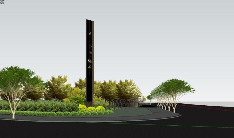 知名企业现代风格樾府展示区景观模型设计_6