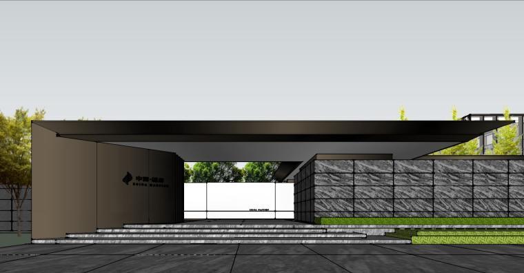 知名企业现代风格樾府展示区景观模型设计_1
