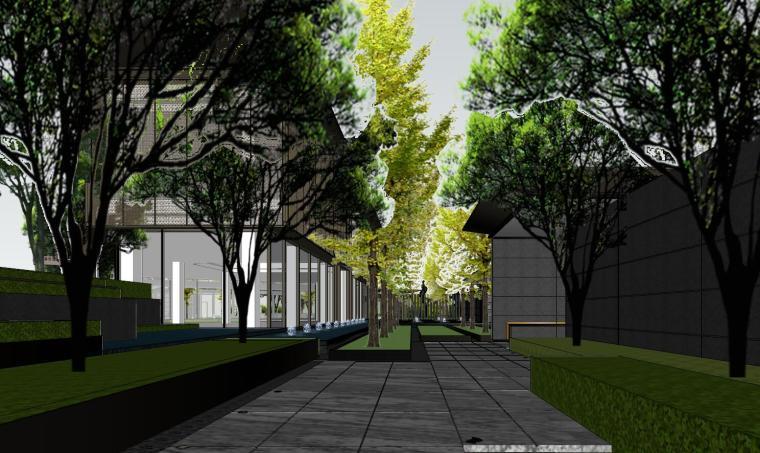 知名企业现代风格樾府展示区景观模型设计_7