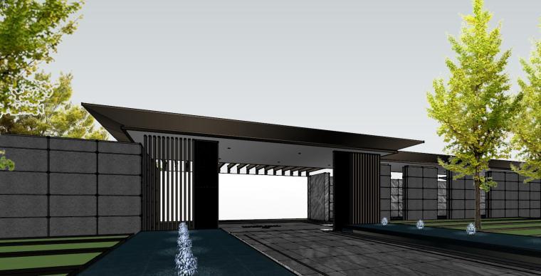 知名企业现代风格樾府展示区景观模型设计_5