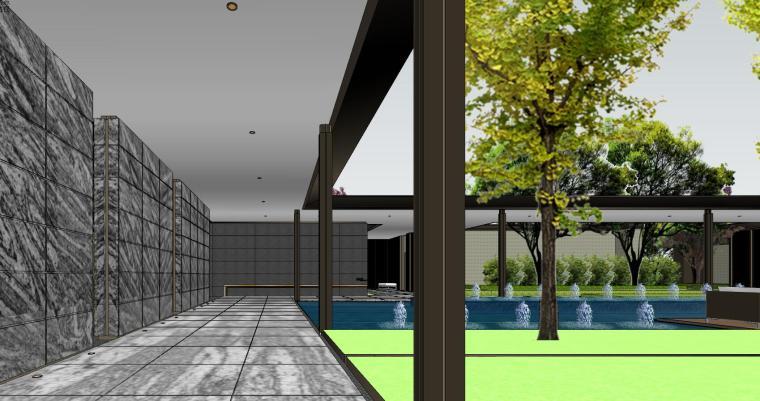 知名企业现代风格樾府展示区景观模型设计_8