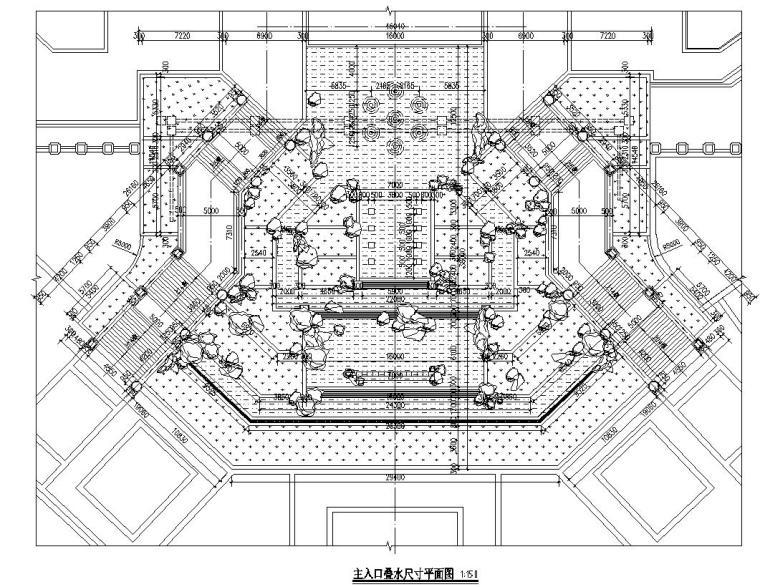 三联新古典风格主入口跌水水景详图设计_6