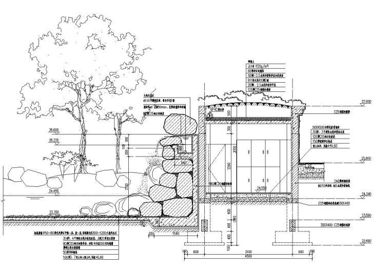 英伦国际跌水瀑布节点详图设计_2