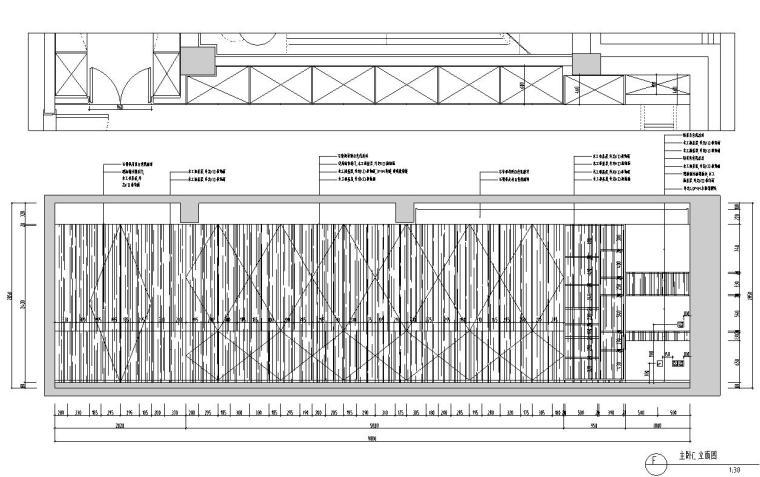现代简约风格凯旋门三居室装修施工图设计_9