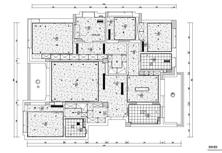 现代简约风格凯旋门三居室装修施工图设计_3