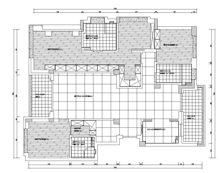 现代简约风格凯旋门三居室装修施工图设计_2