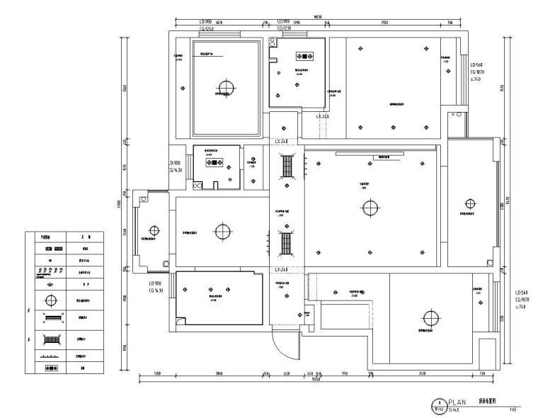 山湖一号现代简约风三居室装修施工图设计_3