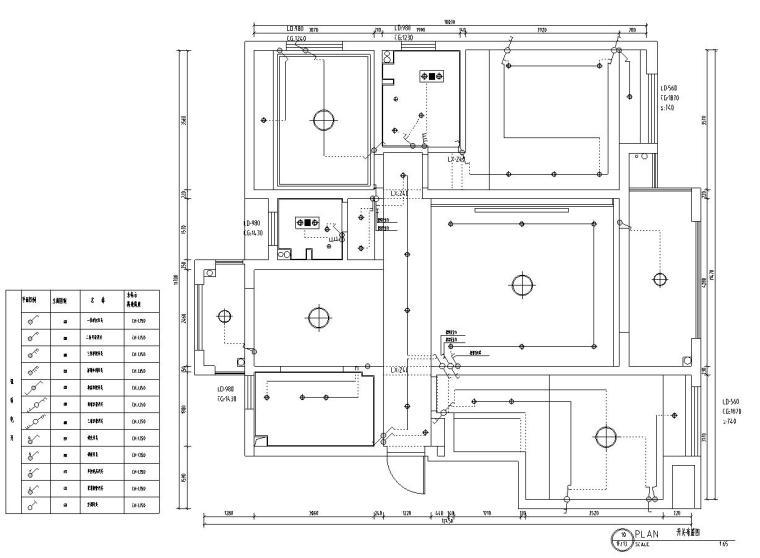 山湖一号现代简约风三居室装修施工图设计_4
