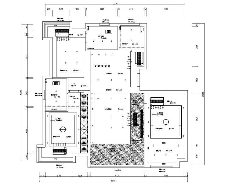 江苏145㎡现代风黑白灰空间住宅装修施工图_4