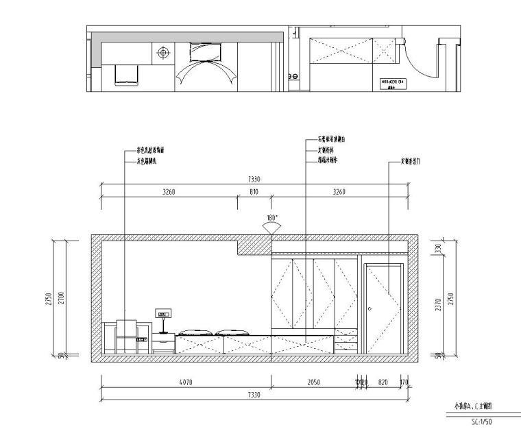现代台湾风145m²三居室住宅装修施工图设计_6