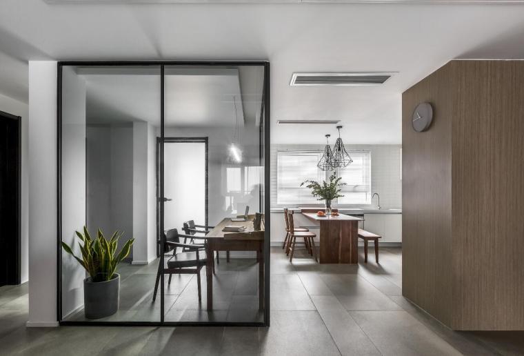 现代台湾风145m²三居室住宅装修施工图设计_8