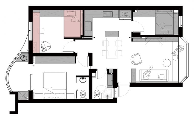 """89平老破小的学区房,被改造得""""面目全非""""_3"""