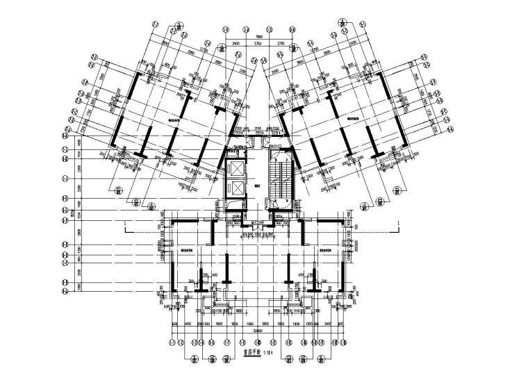 大都会33层楼栋1梯4户128+97㎡住宅户型设计_1
