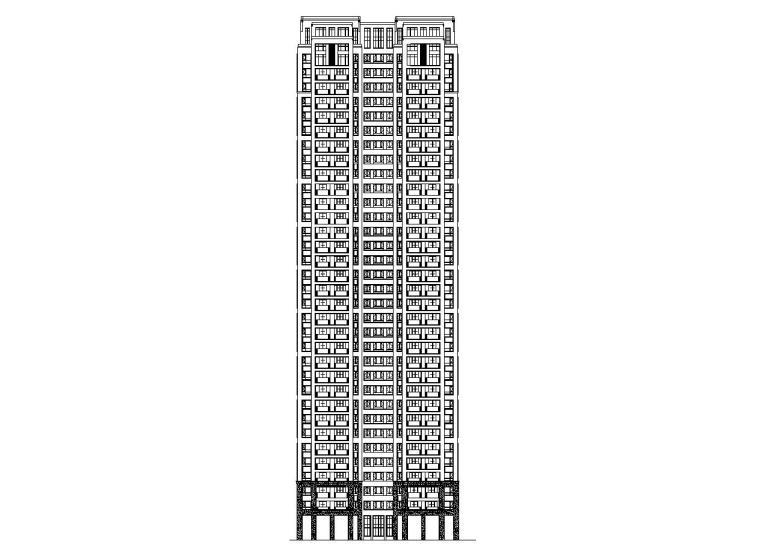 大都会33层楼栋1梯4户128+97㎡住宅户型设计_2