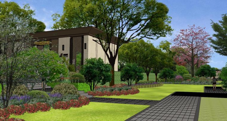 广东新中式风格阳光禧园建筑和景观模型设计_9