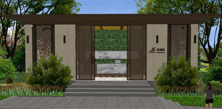 广东新中式风格阳光禧园建筑和景观模型设计_8