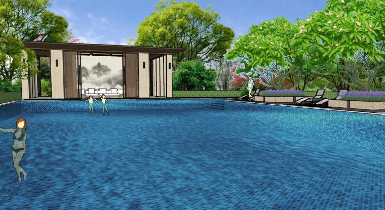 广东新中式风格阳光禧园建筑和景观模型设计_5