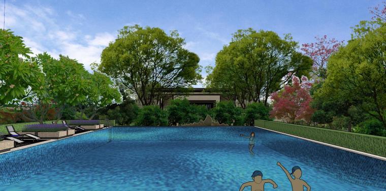 广东新中式风格阳光禧园建筑和景观模型设计_6