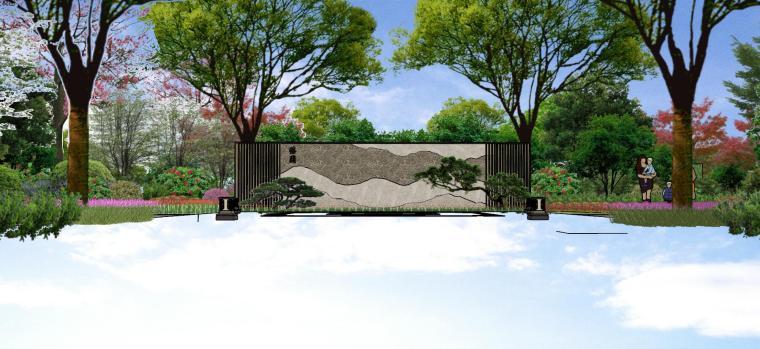 广东新中式风格阳光禧园建筑和景观模型设计_10