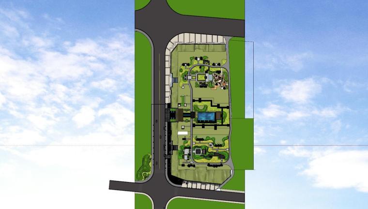 广东新中式风格阳光禧园建筑和景观模型设计_15