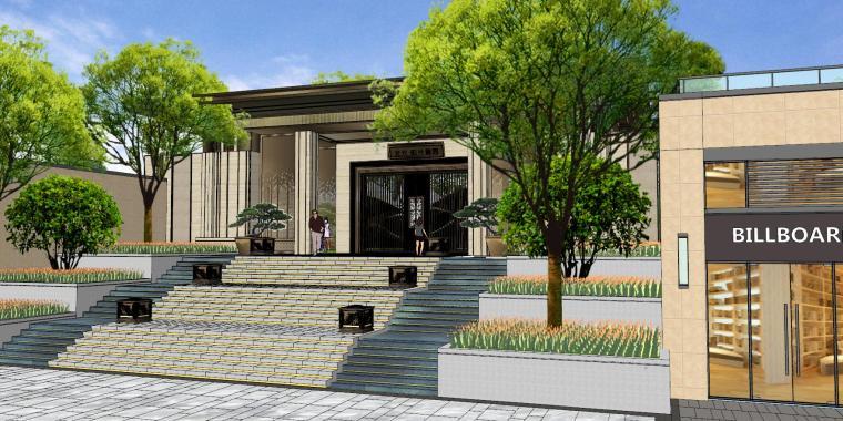 广东新中式风格阳光禧园建筑和景观模型设计_14