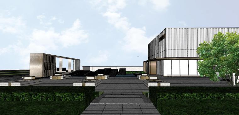 浙江新中式万象府示范区建筑和景观模型设计_6
