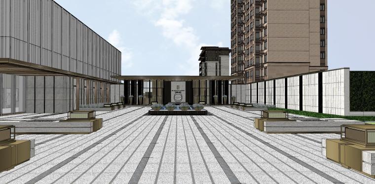 浙江新中式万象府示范区建筑和景观模型设计_1