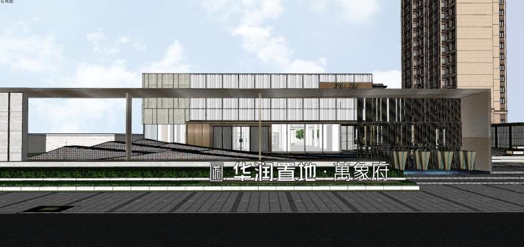 浙江新中式万象府示范区建筑和景观模型设计_3